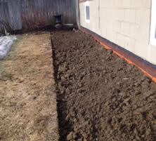 Soil around foundation