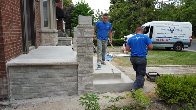 complete concrete stairs