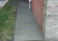 complete concrete walkway