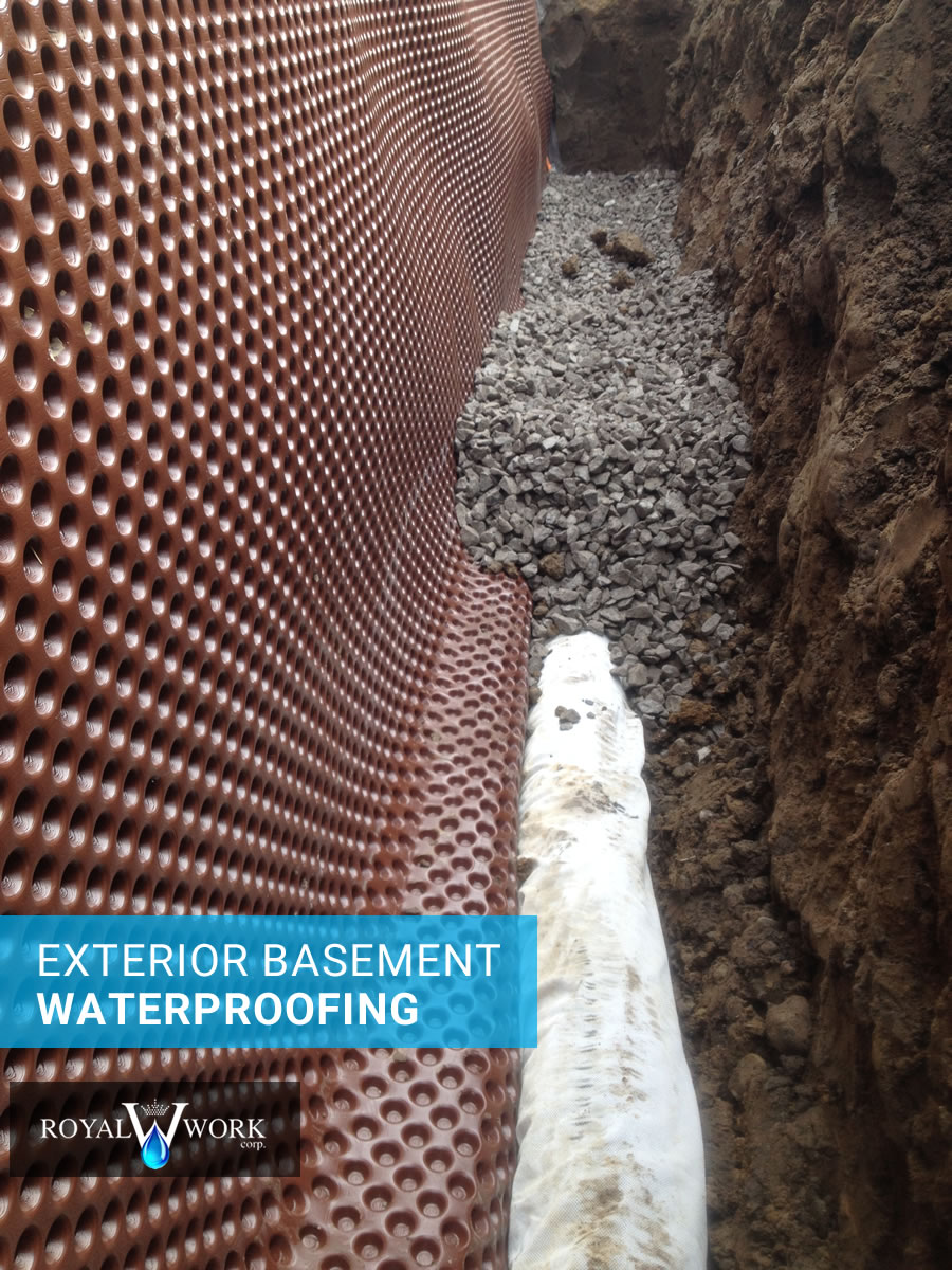 Waterproofing solutions project galleries toronto area for Exterior wall waterproofing membrane