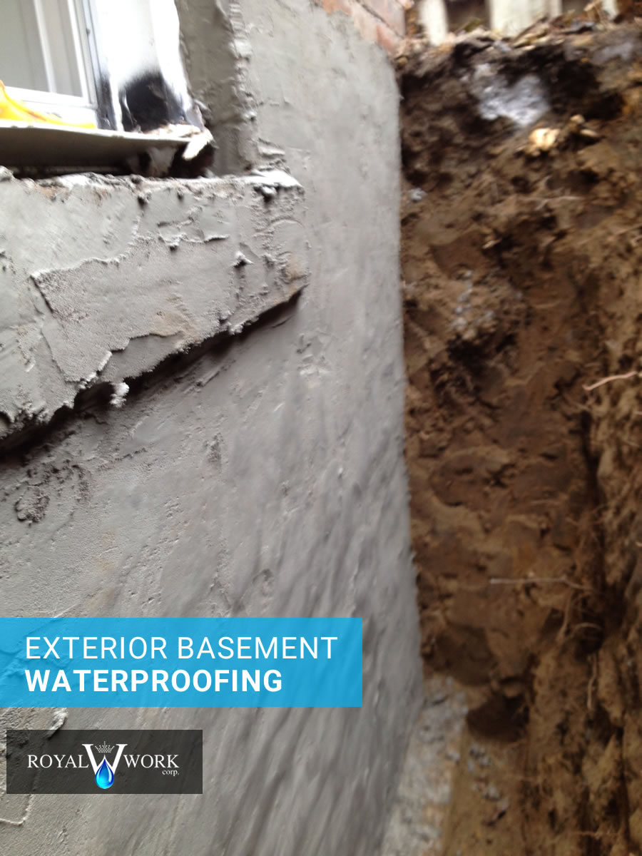 Waterproofing solutions project galleries toronto area Exterior basement waterproofing