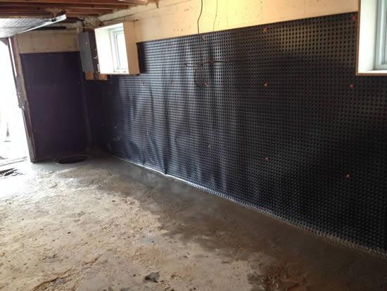 Interior Basement waterproofing Toronto Project