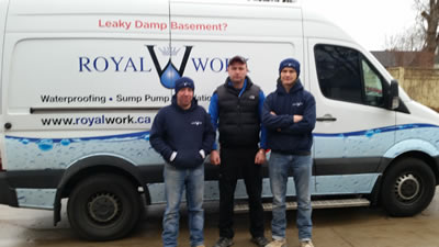 Toronto basement waterproofing team