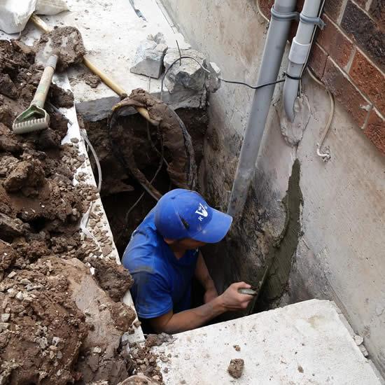 basement waterproofing process