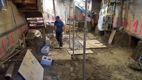 basement underpinning toronto project