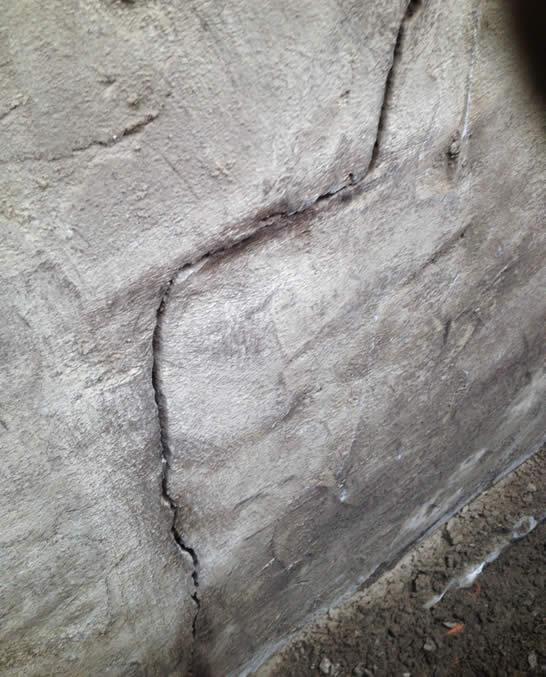 foundation wall settling cracks