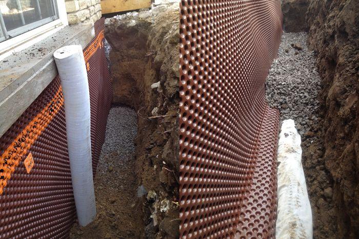 basement waterproofing toronto project