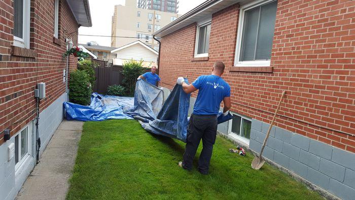 exterior basement waterproofing toronto ontario