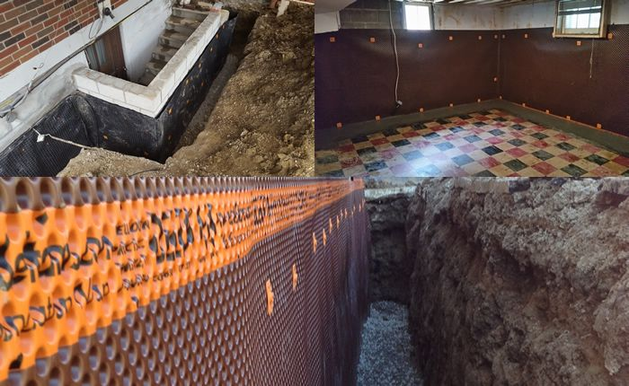 interior vs exterior basement waterproofing