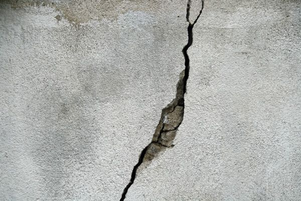 wide foundation wall crack