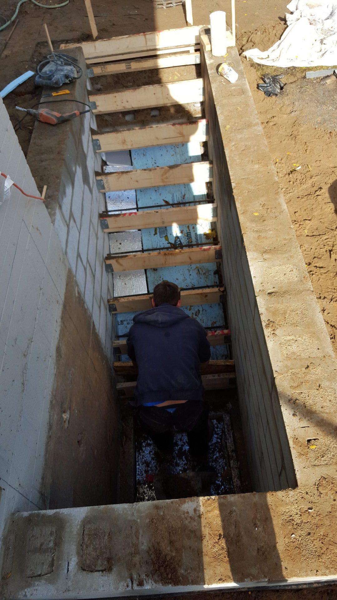 Lighting Basement Washroom Stairs: Basement-underpinning-process-11